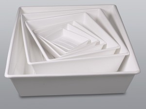 Burkle White PP Trays
